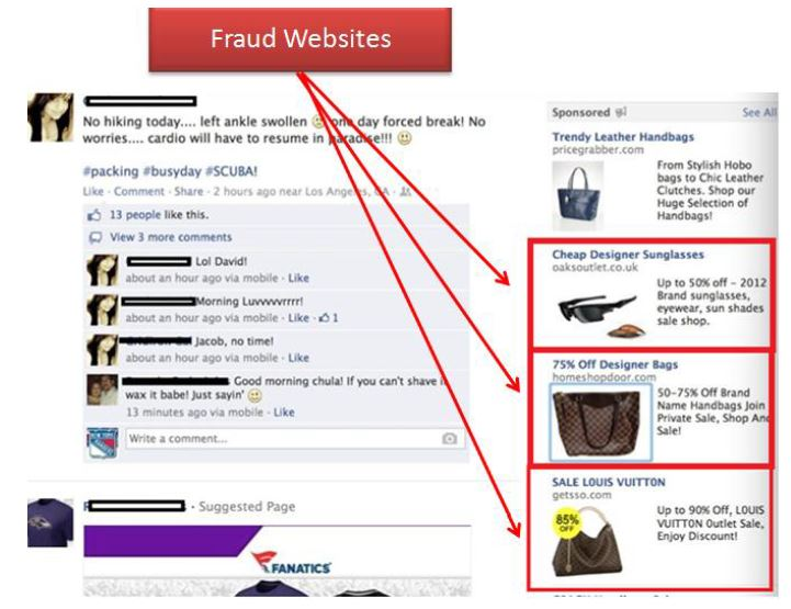 Facebook fraud website