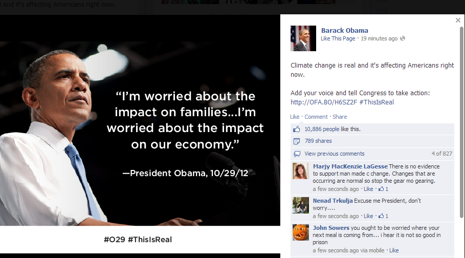 obama facebook account hacked