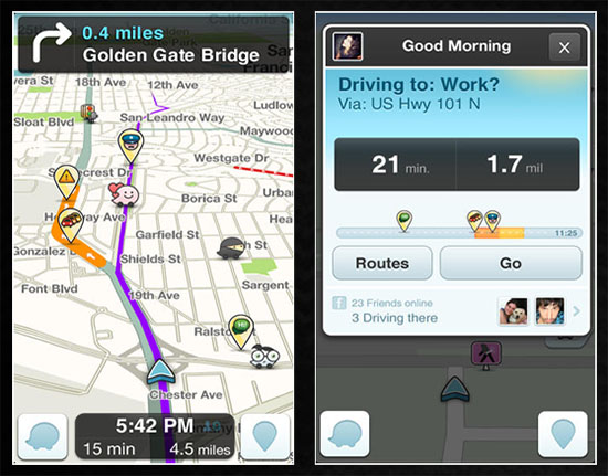 Waze-Social-GPS-Maps Traffic jams