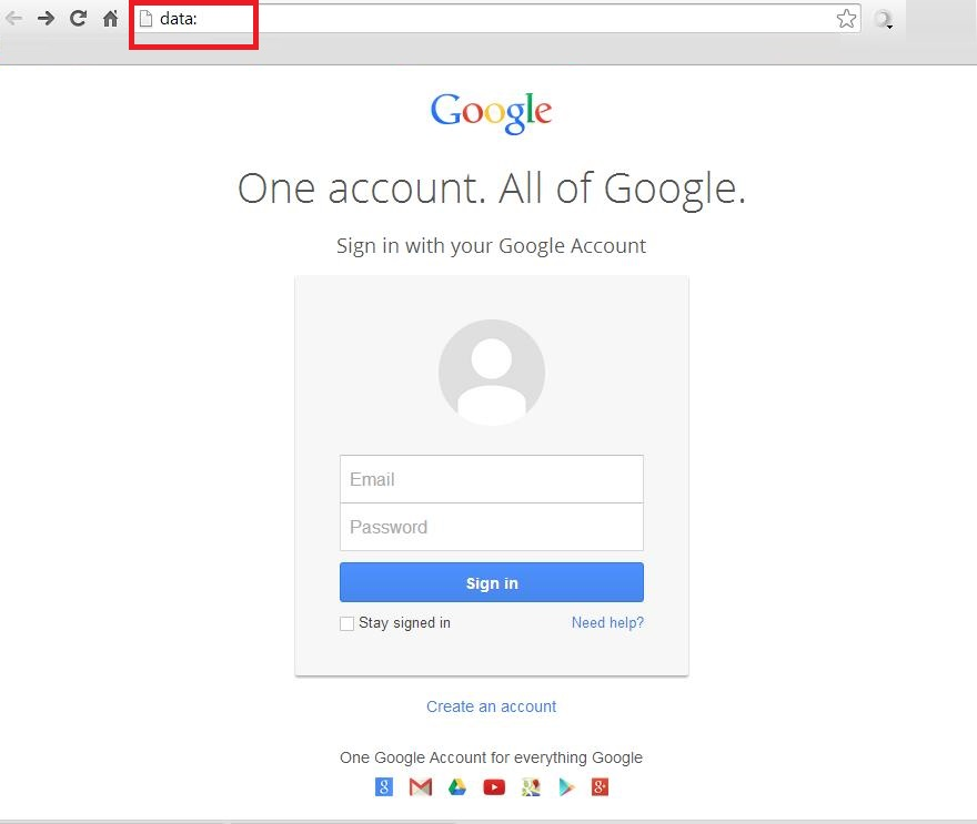 phishing scheme against Google account