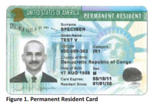 ... cards including permanent resident IDs by the USCIS has a number of