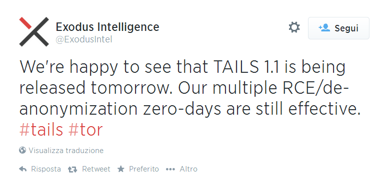 Tails 1_1 vulnerable tweet