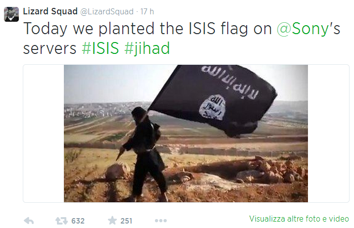 Sony hit DDoS attack 2 Twitter ISIS
