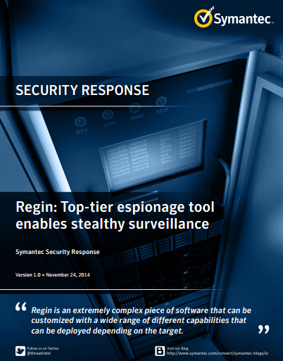 Symantec discovered 49 New Modules of the Regin espionage platform