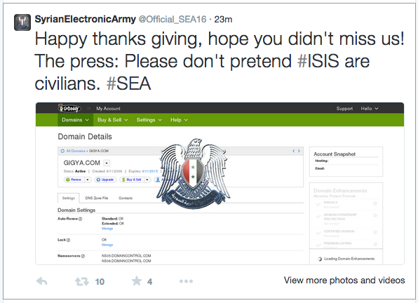 gigya hacked by Syrian Electronic Army 3