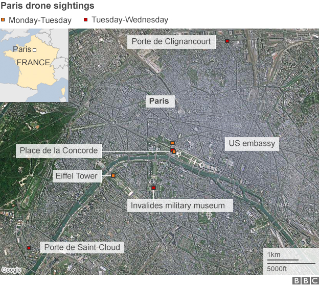 Mysterious sightings of drones in the sky of parissecurity - Prefecture de police porte de clignancourt ...