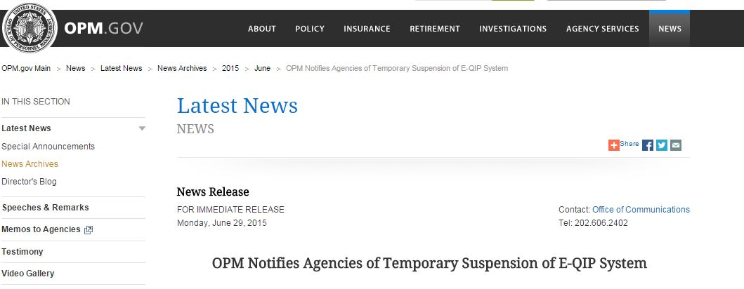 OPM suspends e-QIP to patch a severe security flaw