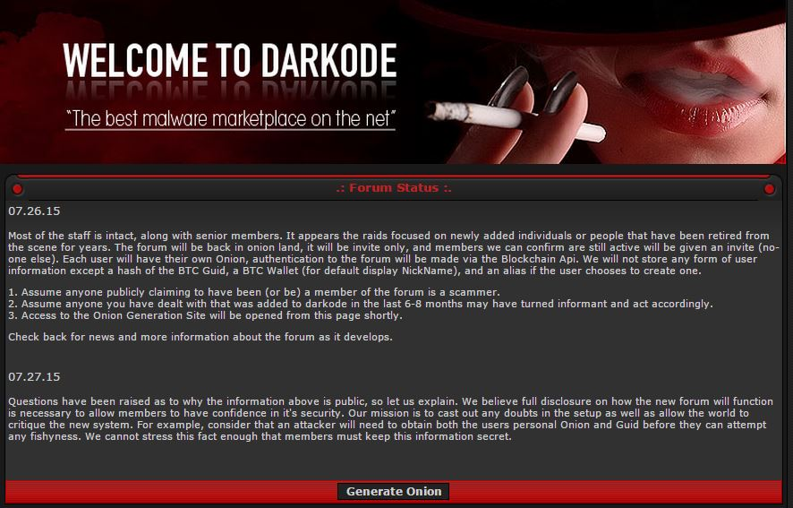 Darkode black market back online with security improvements