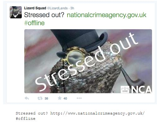 Tango Down, NCA website offline after Lizard Squad attack