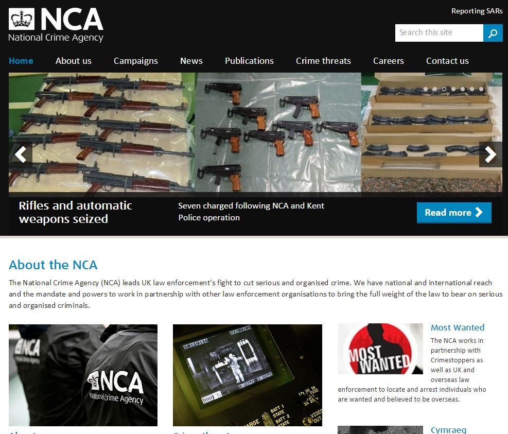 NCA website