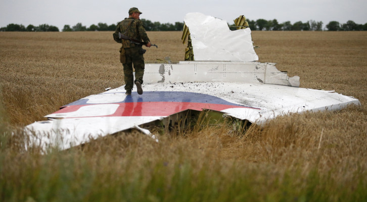 ' ' from the web at 'http://securityaffairs.co/wordpress/wp-content/uploads/2015/10/mh17-crash-scene-vertical-stabilizer_0-726x400.jpg'