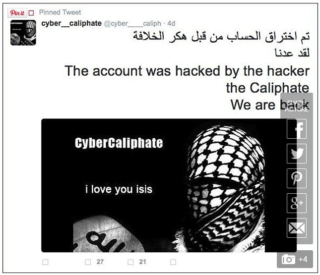 cyber caliphate hack 54k twitter accounts 3
