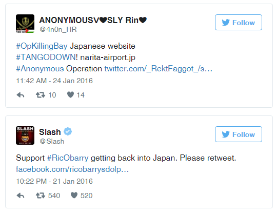OpKillingBay - Anonymous DDoS Japanese Narita International Airport protest slaughter of Dolphin