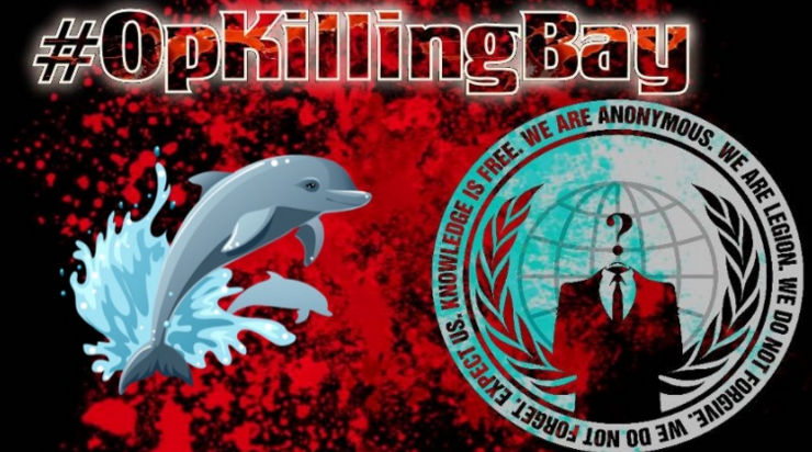 OpKillingBay – Anonymous shut down Japanese airport site to protest against slaughter of Dolphin