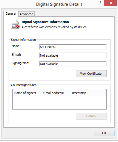 Fraudulent purchases of digitals certificates through executive impersonation