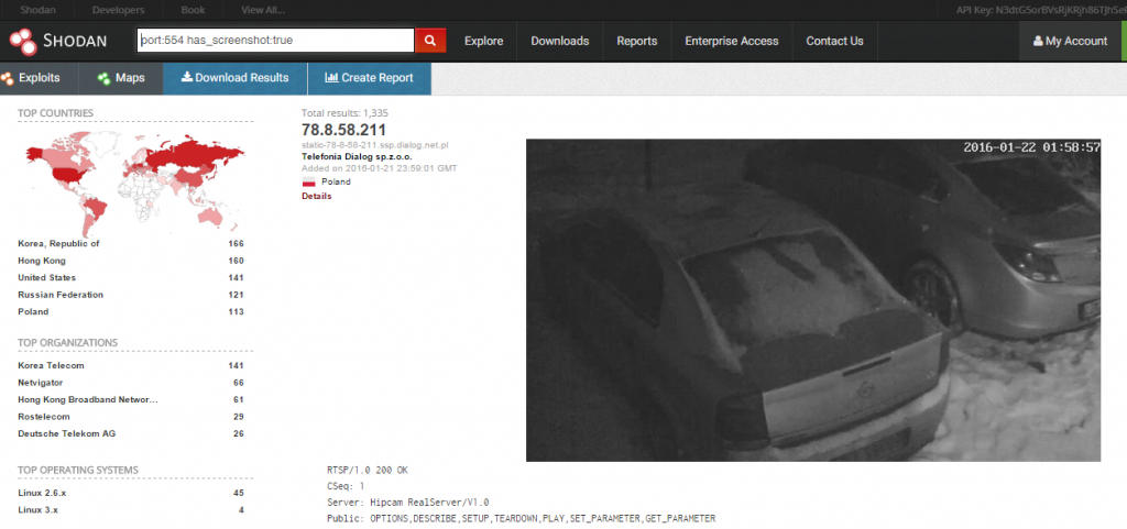 shodan webcams free