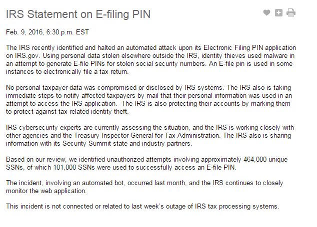 Once again identity thieves use stolen SSNs in IRS attack