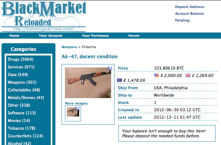 Journalists get scammed trying to buy an AK47 in the Dark Web