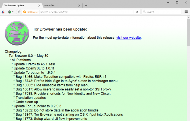 Tor Browser 6.0 is out with privacy and security ...  Tor Browser 6.0...