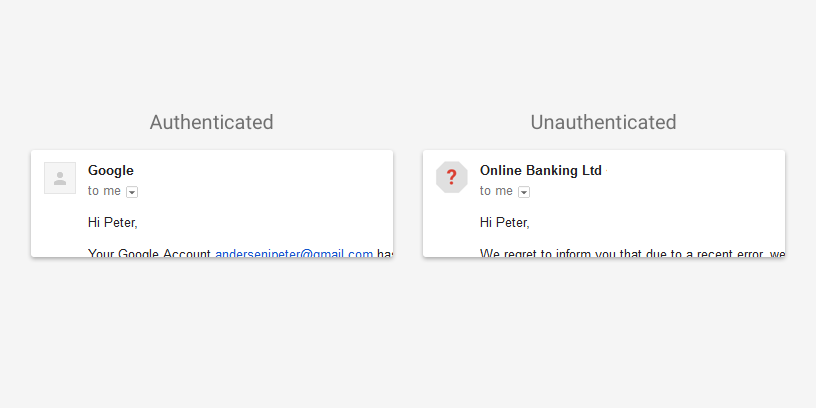 Safe Browsing, Gmail will warn of emails from unauthenticated senders