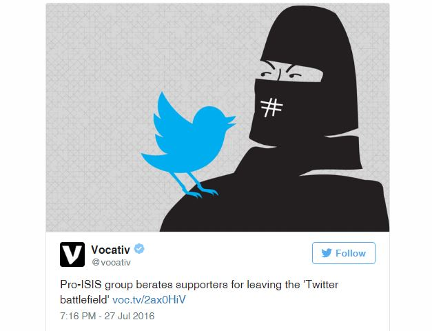 Twitter suspended 235,000 accounts belonging to the ISIS in 6 months
