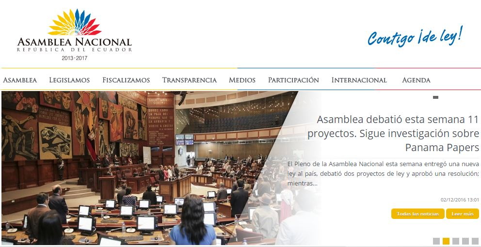 Kapustkiy hacked the National Assembly of Ecuador website
