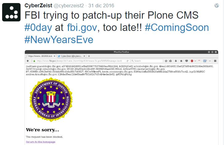 The Plone community claims the FBI hack is a fake, it's a mystery