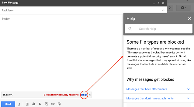 Gmail will stop allowing JavaScript (.js) file attachments starting February 13, 2017