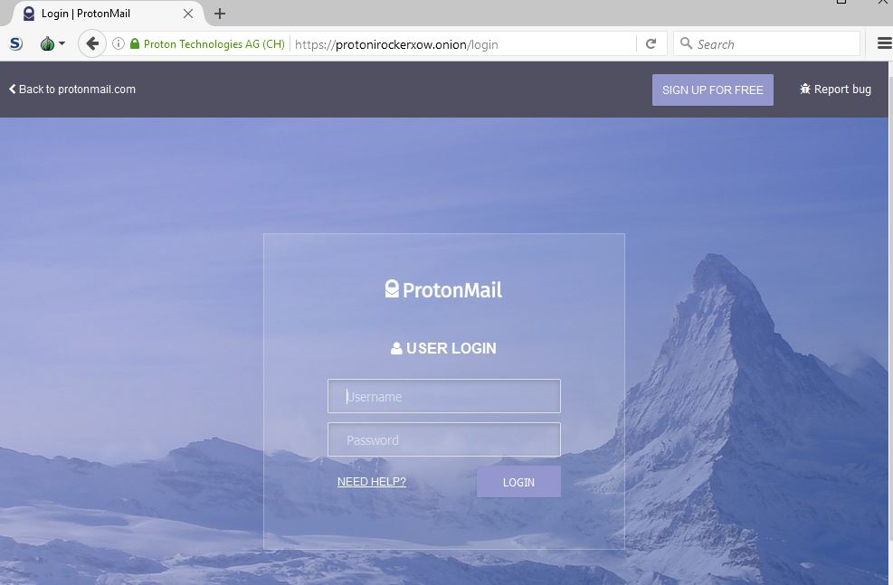 ProtonMail announced that its Tor Hidden Service is online
