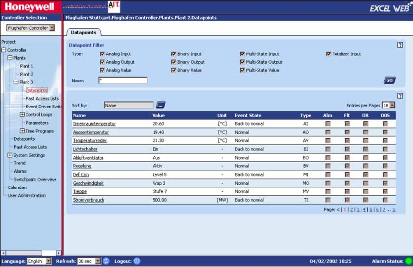 SCADA Honeywell XL Web II Controller exposed password in clear text