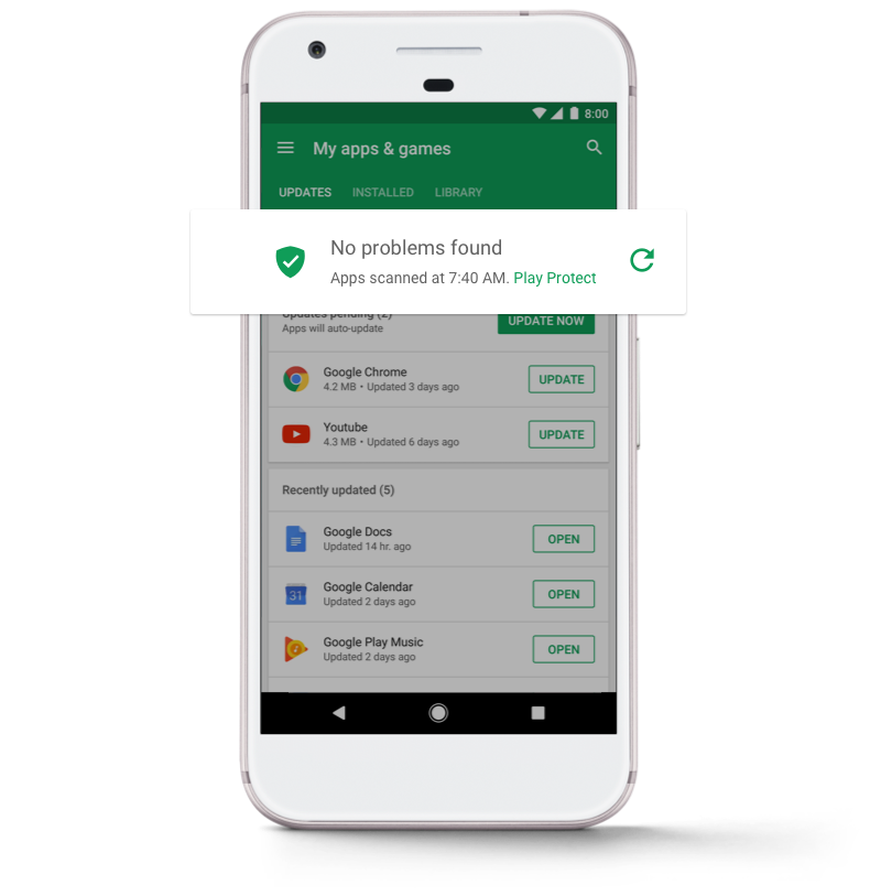 Google is rolling out Google Play Protect, a machine-learning system to protect Android users