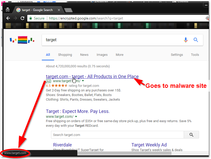 Malvertising campaign in Google Search redirected users to tech support scam