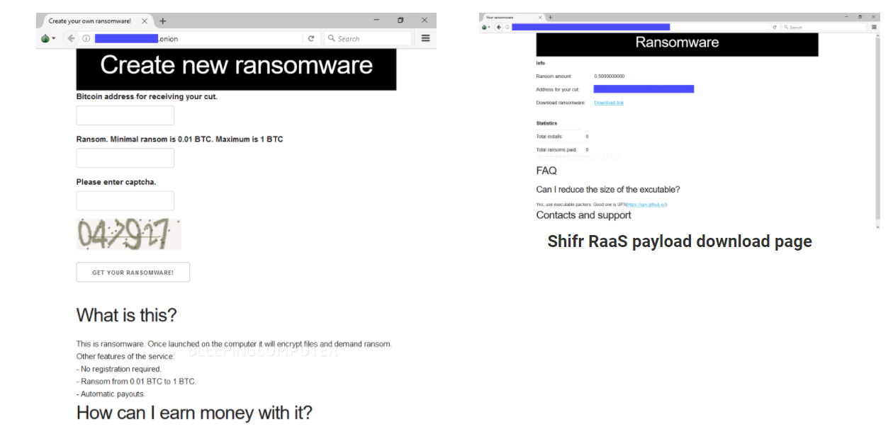 Shifr RaaS lets create a simple ransomware with just 3 steps