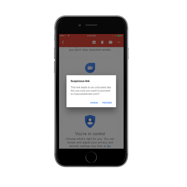 Google adds Anti-Phishing feature also to Gmail app for iOS