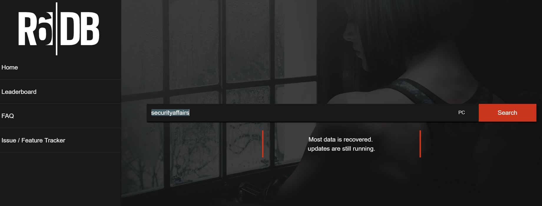 R6DB hacked. Rainbow Six Siege service's database wiped and held for ransom