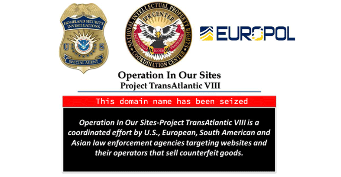Op In Our Sites – Europol and other agencies seize over 20,500 domains for selling counterfeit products