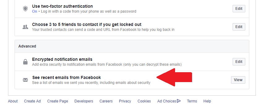 A new Facebook security feature reveals fraudulent Facebook-like mails