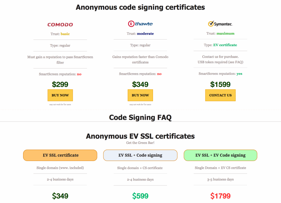 Counterfeit Code-Signing certificates even more popular, but still too expensive