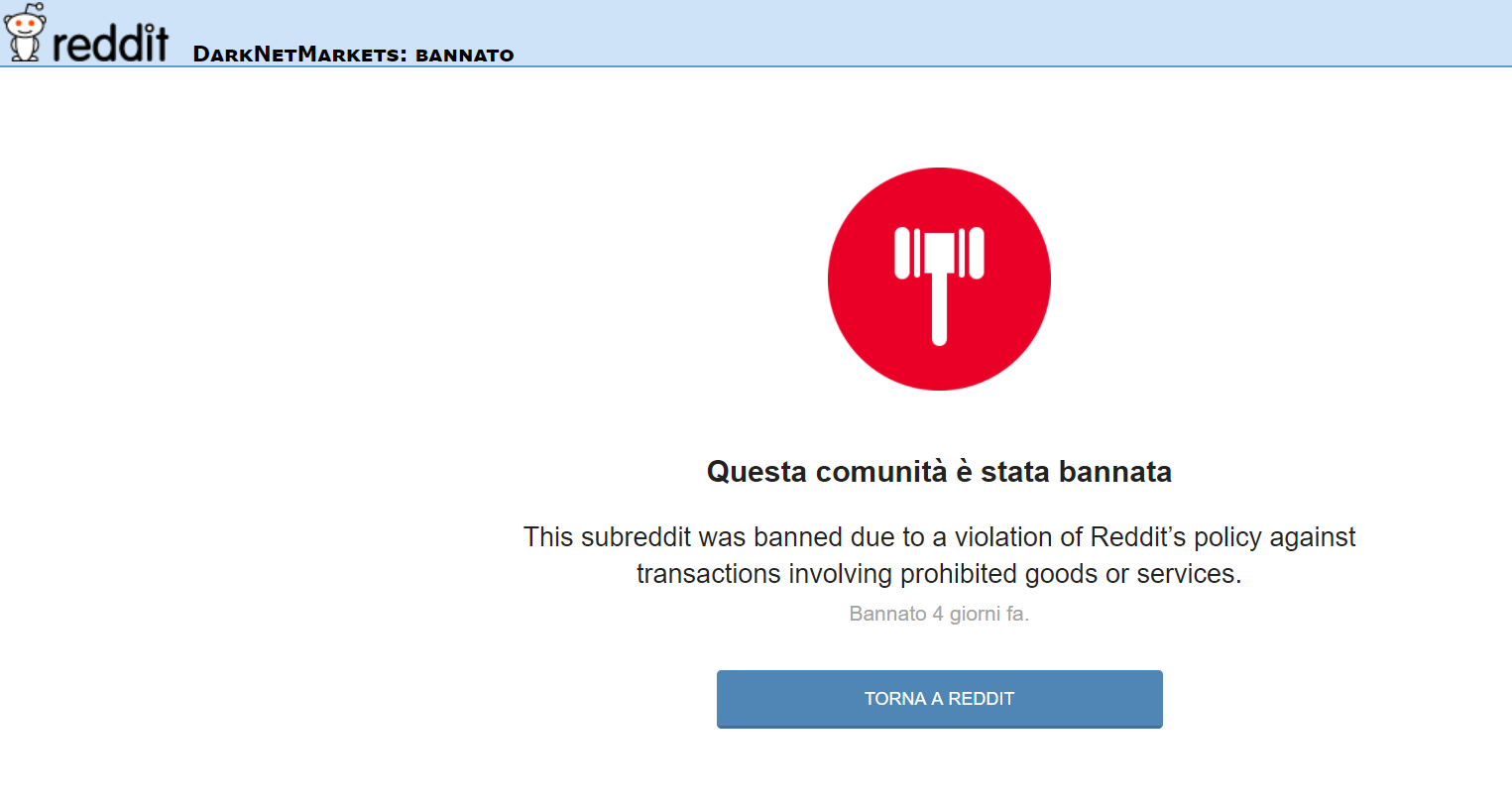 Reddit banned the biggest Darknet markets subreddit /R/DarkNetmarkets