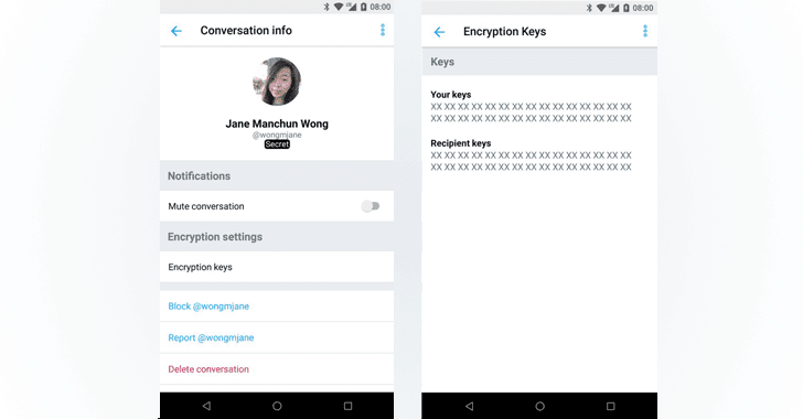 Secret Conversation – Twitter is testing End-to-End Encryption for direct messages