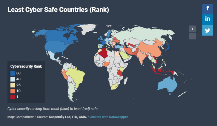 These Are the Countries With the Best and Worst Cybersecurity