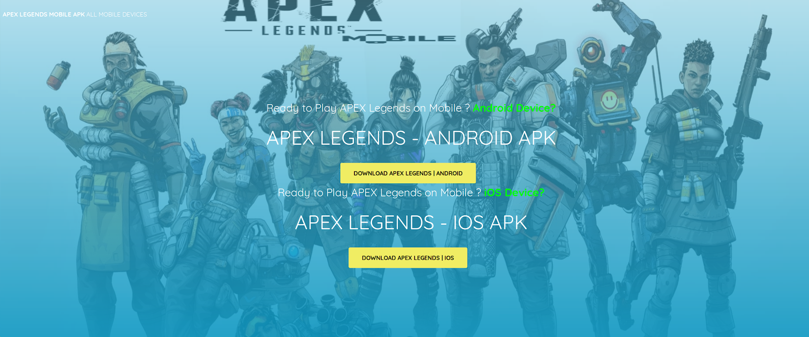 Apex Legends for Android: a Fake App could Compromise your Smartphone