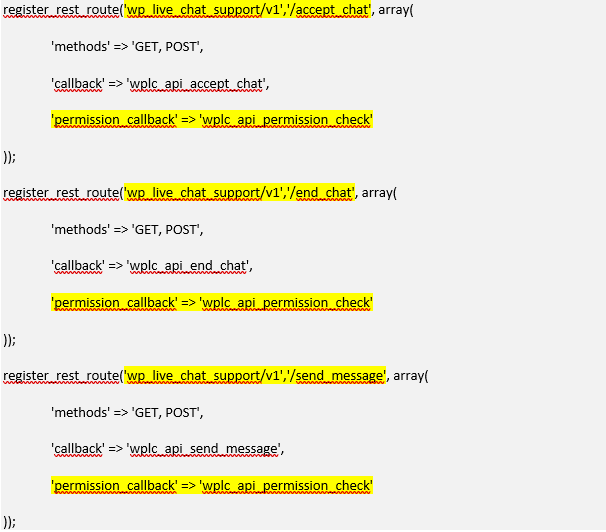 Vulnerability in WordPress Live Chat Plugin allows to steal and hijack sessions