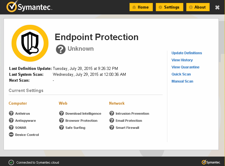 Signature update for Symantec Endpoint protection crashed many device