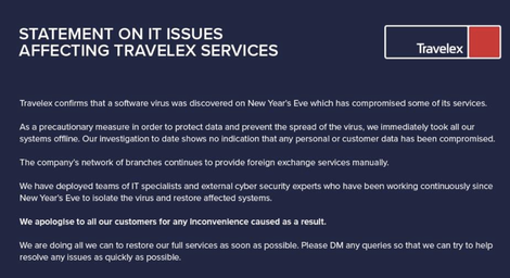 Travelex paid $2.3 Million ransom to restore after a ransomware attack