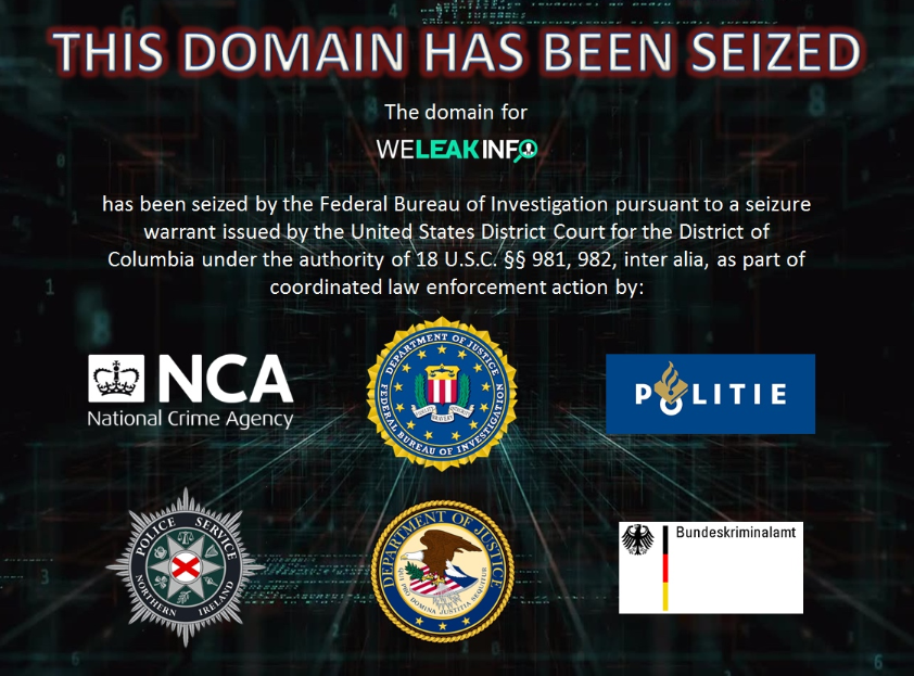 Law enforcement seized WeLeakInfo.com for selling access to data from data breaches