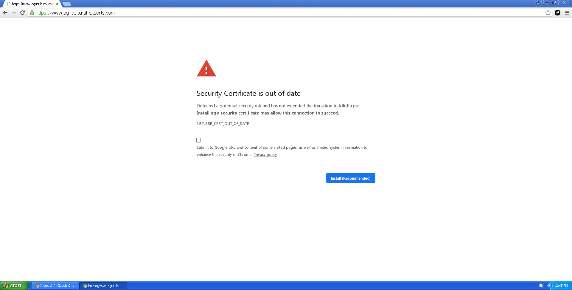 Malware campaign employs fake security certificate updates