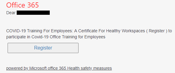 Office 365 users that are returning to the workplace targeted with Coronavirus training resources