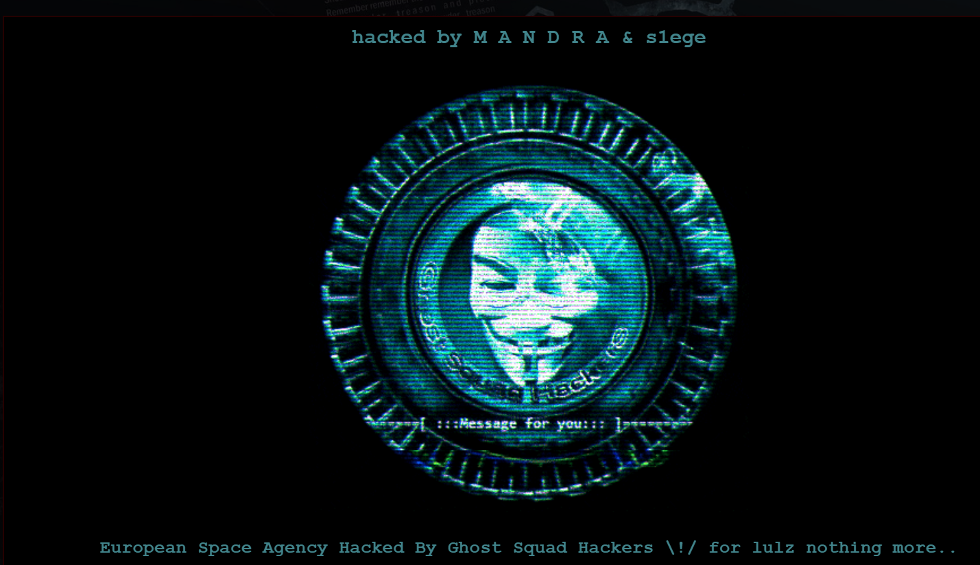 Exclusive, Ghost Squad Hackers defaced European Space Agency (ESA) site