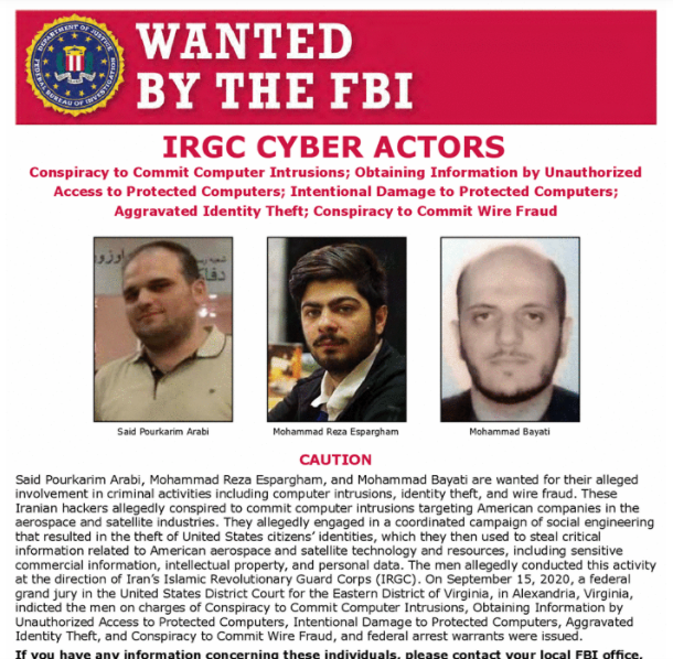 US DoJ charges Iranian hackers for attacks on US satellite companies